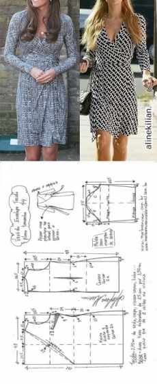 Wrap around dress pattern - Marlene Mukai Sewing Dress, Dress Sewing Patterns, Diy Dress, Sewing Patterns Free, Sewing Clothes, Clothing Patterns, Wrap Dress Patterns, Wrap Around Dress, Make Your Own Clothes