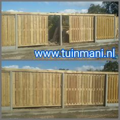 We hebben een dubbele #schuifpoort geplaatst. Zo heeft u geen extra ruimte nodig voor het open of dichtdraaien van uw #tuindeur. Dit samen met de #schutting met betonpalen en onderplaten grijs gecombineerd met #geïmpregneerde #tuinschermen maakt het een complete #erfafscheiding! Geplaatst door en verkrijgbaar bij www.tuinmani.nl #tuinmani #deventer #afscheiding #tuinhek #veiliggevoel #tuin #tuinscherm #tuinpoort