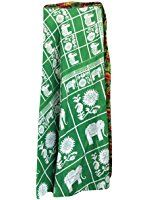 Magic Wrap around skirt Green Elephant Two Layers Reversible Dress