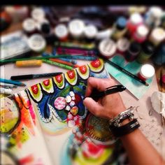 A little morning art journaling at #secretlakeretreat with @Sandra Pendle Pendle Pendle Stone Keene @raemissigman @lorraine_bell and @barbaracmoore #artjournaling