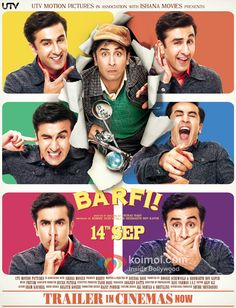 Barfi! - A very off the wall movie about a deaf/mute who is goofy, charming, romantic, funny, shrewd, touching, obnoxious and quite lovable. A very uplifting movie.