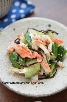 Pin by 長嶋愛 on 卒園 Sushi Recipes, Asian Recipes, Healthy Dinner Recipes, Cooking Recipes, Vegetable Appetizers, Appetizer Salads, Delish Kitchen, Japanese Dishes, Vegetable Sides