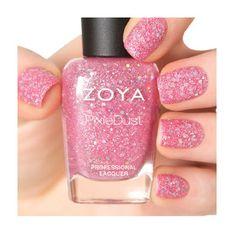 ZOYA - Ginni — glittery pink tourmaline #nail #nails #nailpolish