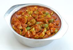 Indian Hot Lime Pickle - limes salt red chilli powder fenugreek seeds peanut oil asafetida