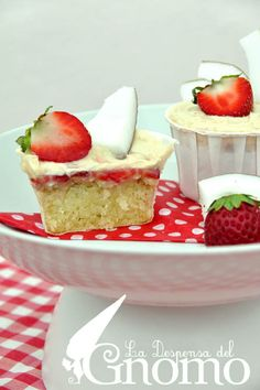 Coconut and Strawberry Gluten Free Cupcakes