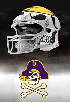 East Carolina skull helmet Ecu Football 9177ff127