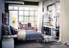 Ikea bedrooms IKEA bedroom furniture and colors 2018 A new catalog from IKEA, the best designs of IKEA bedrooms 2018 and IKEA furniture for bedroom 2018 with top tips and trends for IKEA bedroom colors Ikea Bedroom Design, Bedroom Furniture, Bedroom Decor, Ikea Furniture, Ikea Design, Bedroom Colors, Trendy Bedroom, Modern Bedroom, Algot Ikea