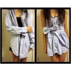 Shirt to dress