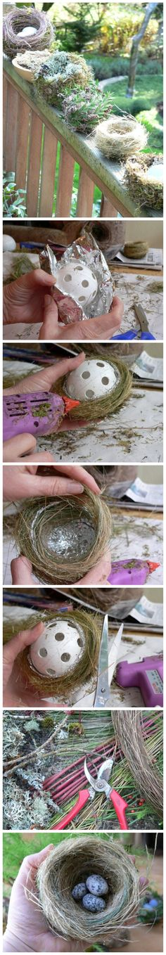 The best DIY projects & DIY ideas and tutorials: sewing, paper craft, DIY. Diy Crafts Ideas How to make a decorative bird nest -Read Diy Projects To Try, Crafts To Make, Craft Projects, Crafts For Kids, Arts And Crafts, Bird Crafts, Nature Crafts, Easter Crafts, Easter Decor