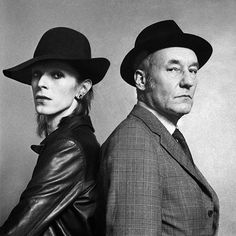 """berlin-1976: """"David Bowie and William Burroughs photographed for Rolling Stone magazine, 17 November 1973 © Terry O'Neill 