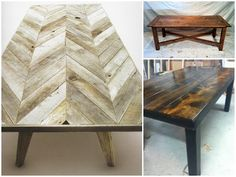 Loves these tables, especially the Chevron one.  I think I will have Pat make this for me!