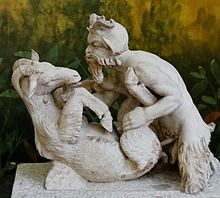 Pan (god) - Wikipedia, the free encyclopedia Pan having sex with a goat, statue from Villa of the Papyri, Herculaneum.