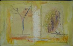 CROQUIS      on inside back cover of an old FRENCH GRAMMAR   shewing    BRANCH and    EGG   2016 Juin   a Paris