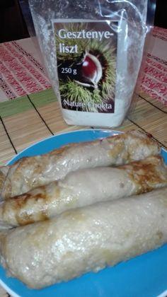 Gesztenyelisztes palacsinta - Palacsinta receptek Fresh Rolls, Ethnic Recipes, Food, Meal, Essen, Hoods, Meals, Eten