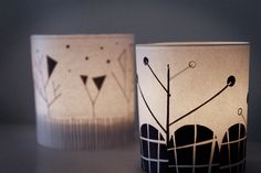 DIY - Illustrated Candle Holder Covers - Free JPEG Printables