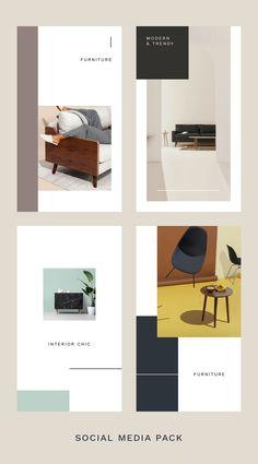 Media Furniture, Furniture Stores, Layout Design, Web Design, Instagram Grid, Cover Template, Social Media Template, Photoshop Design, Texture Design