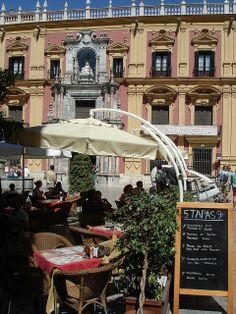 Tapas Bar - Malaga, Spain. Want to combine tapas with a bike tour? Check http://www.bajabikes.eu/en/malaga-tapas-bike-tour