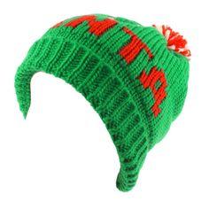85487ae682e I Love Santa Christmas Thick Winter Knit Beanie Skull Ski Pompom Cap Hat  Green  fashion