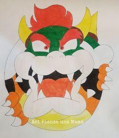 Decoración de cumpleaños de Mario Bros y Bowser y Yoshi. Diy birthday decoration. Minions, Mario Y Luigi, O Pokemon, Rafting, Yoshi, Bowser, Birthday, Animals, Character