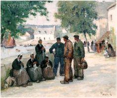 Concarneau et ses Peintres -peintres Français- Marzin Alfred - Tricotage