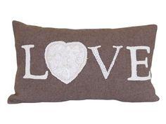 cushion vintage love taupe 30x50  18007088 cushion @home  vintage love  30x50cm  149.00