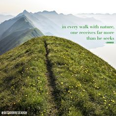 in every walk with nature, one receives far more than he seeks -john miur  #sheadventures #outdoorresearch