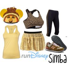 """""""Disney Lion King Simba Running Outfit"""" by mamaspartydress on Polyvore"""