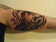 2 sides tattoo
