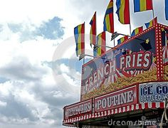 A French fry booth at the fair.