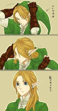mann i would die to have hair like links if it actually looked like that ;)