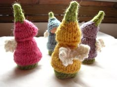 ACCOMPLISHED: knit fairies too cute and easy! Did this for party favors for my 6 year old's party.