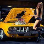 Classic Cars And Girls Woman Beautiful 47