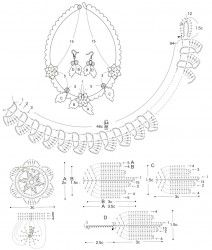 Комплект вязаных украшений Бирюза