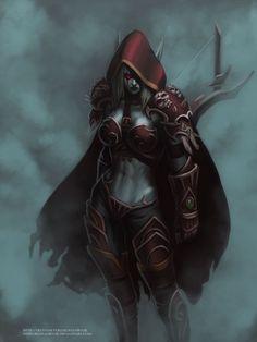 Sylvanas Windrunner by KostanRyuk.deviantart.com on @deviantART | World of warcraft characters | blizzard gaming | #worldOfWarcraf Fanart | fantasy characters art | female archer, assassin