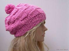 Mütze / Bommelmütze CARO in Rosa