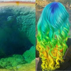Inspired by nature; created by @Hairbyfranco Pastel rainbow hair color hotonbeauty.com