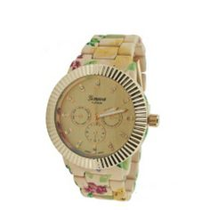 Super cute, classy and chic floral band watch. Perfect for stacking with other bracelets.  THEMINXSHOP!!!THEMINXSHOP!!!THEMINXSHOP!!!