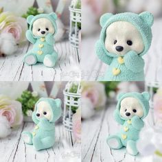 silicone mold Little bear for soap candle gypsum Polymer Clay People, Polymer Clay Animals, Polymer Clay Dolls, Polymer Clay Creations, Polymer Clay Crafts, Diy Clay, Clay Art For Kids, Baby Mold, Cute Clay