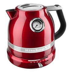 Electric Water Boiler/Tea Kettle from the KitchenAid Pro Line: Candy Apple Red, Item KEK1522CA