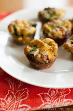 Mini Pesto Potato Spinach Frittata