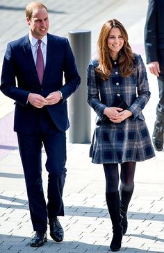 Kate Middleton wearing Aquatalia by Marvin K Rumba Boots and Moloh Workers Coat.