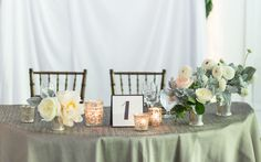 candles totally work at a daytime wedding!