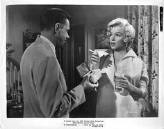 """. Tom Ewell & Marilyn Monroe in """"The Seven Year Itch"""" 1955"""