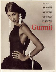 Model: Gurmit KaurEditorial: GurmitMagazine: Vogue Italia, 1990Photographer: Steven Meisel