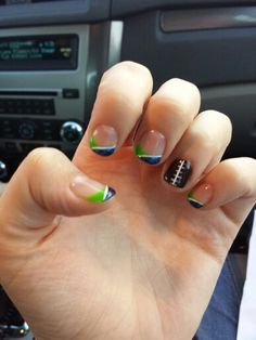 Seahawk nails hope you enjoy my nails hawk fans!