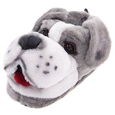 Sheepdog Animal Slippers for Women and Men Medium -- Learn more by visiting the image link.
