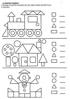 Coloring Page Home 2019 crafts worksheets coloringpage printable craftsforkids kindergarten preschool Kindergarten Math Worksheets, Preschool Learning, Teaching Math, Preschool Activities, Spanish Activities, Shapes Worksheets, Worksheets For Kids, 1st Grade Math, Math For Kids