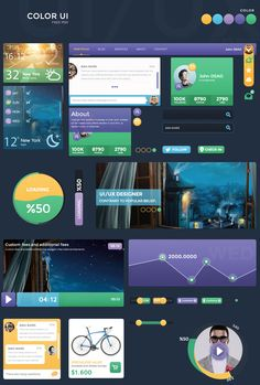 Color UI Kit by DarkStaLkeRR.deviantart.com on @deviantART