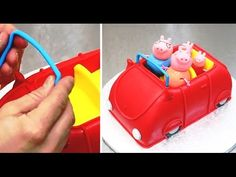 Peppa Pig 3D Car Cake - Fun & Easy To Make by CakesStepbyStep - YouTube
