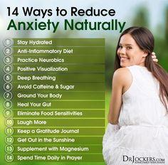 14 Ways to Reduce Anxiety Naturally - http://DrJockers.com